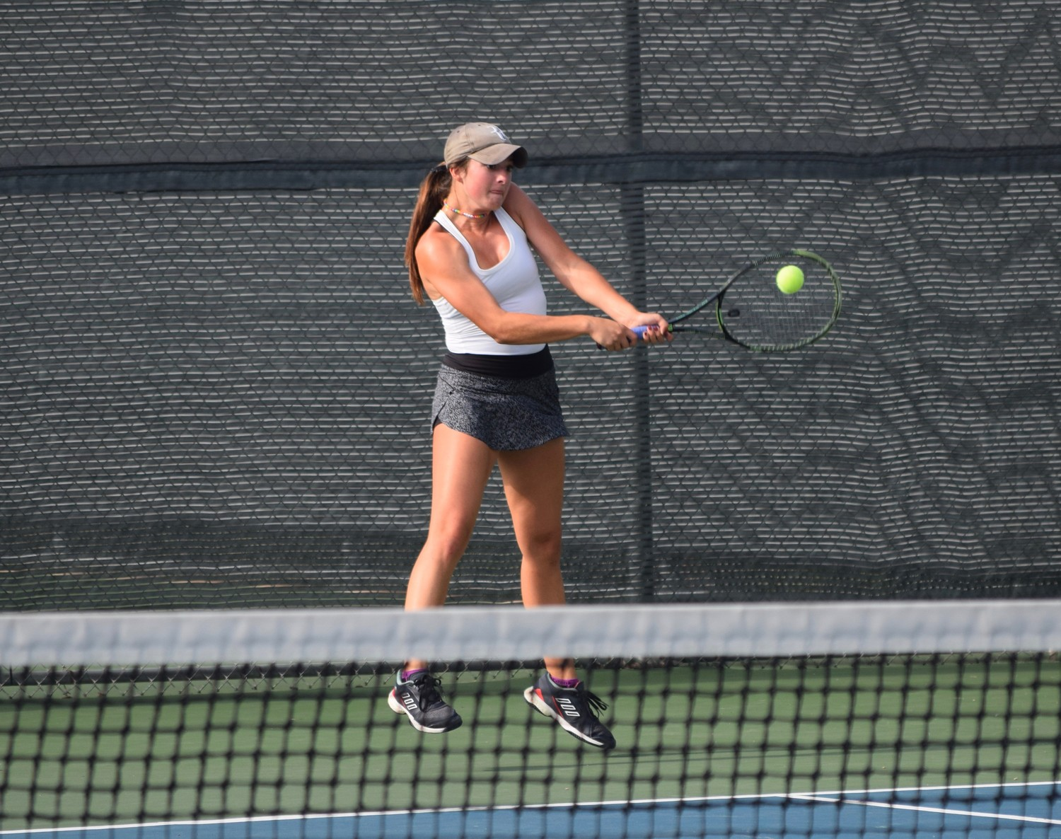 Gabby Cusano was one of seven Vandegrift tennis players at the state tennis tournament in College Station last week. Cusano fell 6-1, 7-6 (2) to Melissa LaMette of Cypress Ranch in the semifinals.