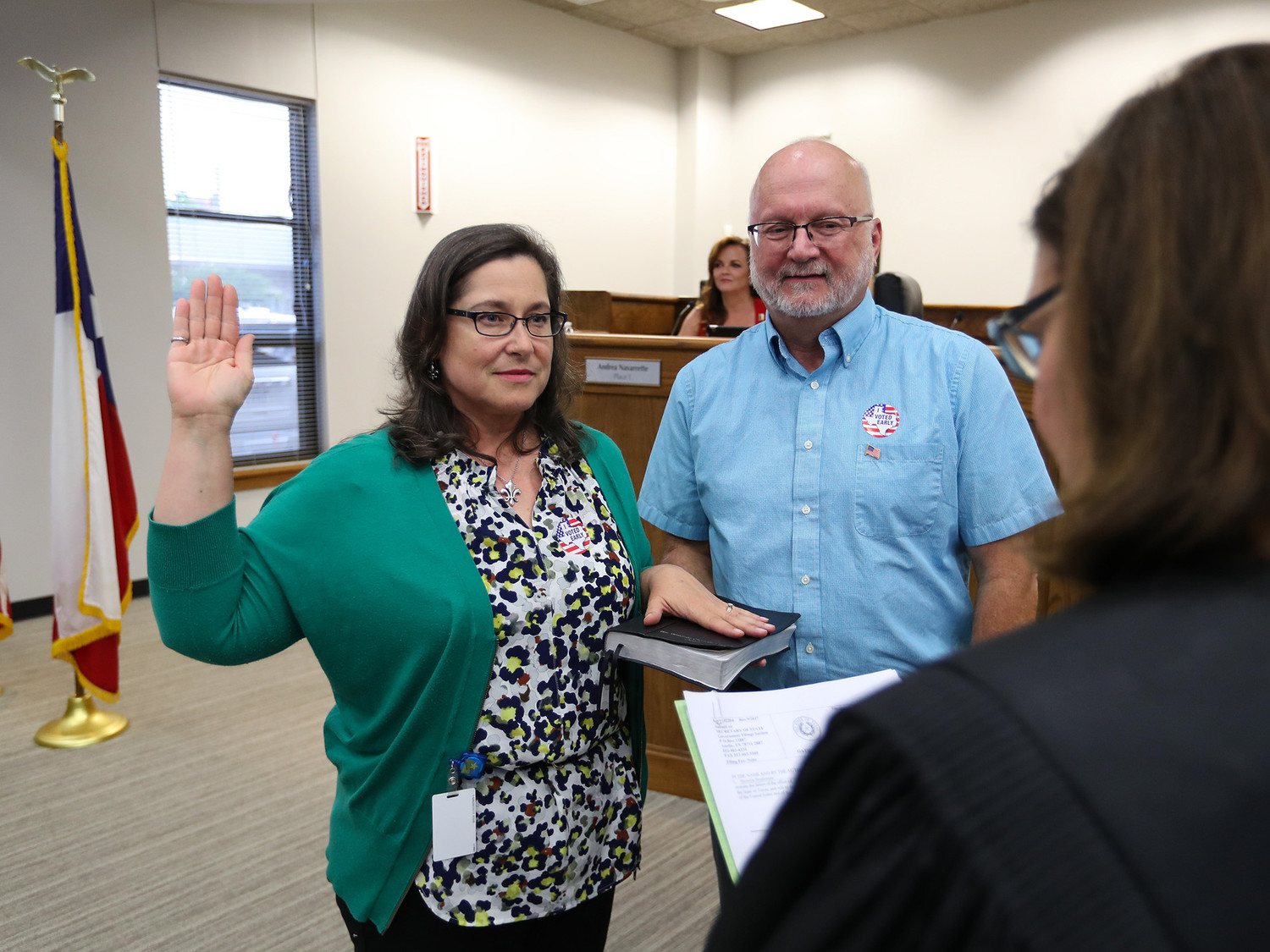 Council member, Place 2, Michelle Stephenson was sworn in during last Thursday's Leander City Council Meeting.