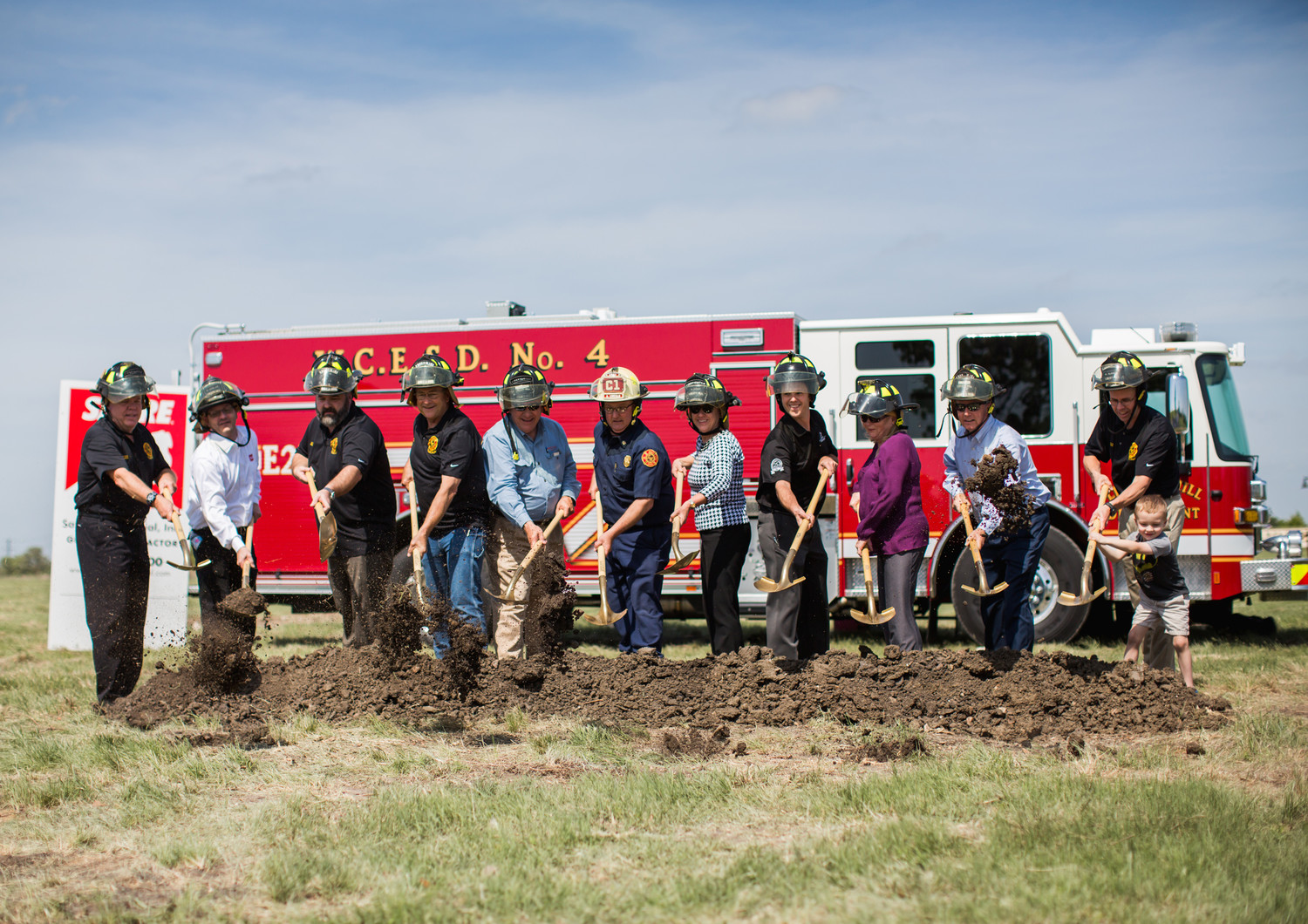 Officials with Williamson County Emergency Services District No. 4/Liberty Hill Fire Department recently broke ground on a fire station that will be located in Santa Rita Ranch. It will be the department's second fire station when it opens next year.