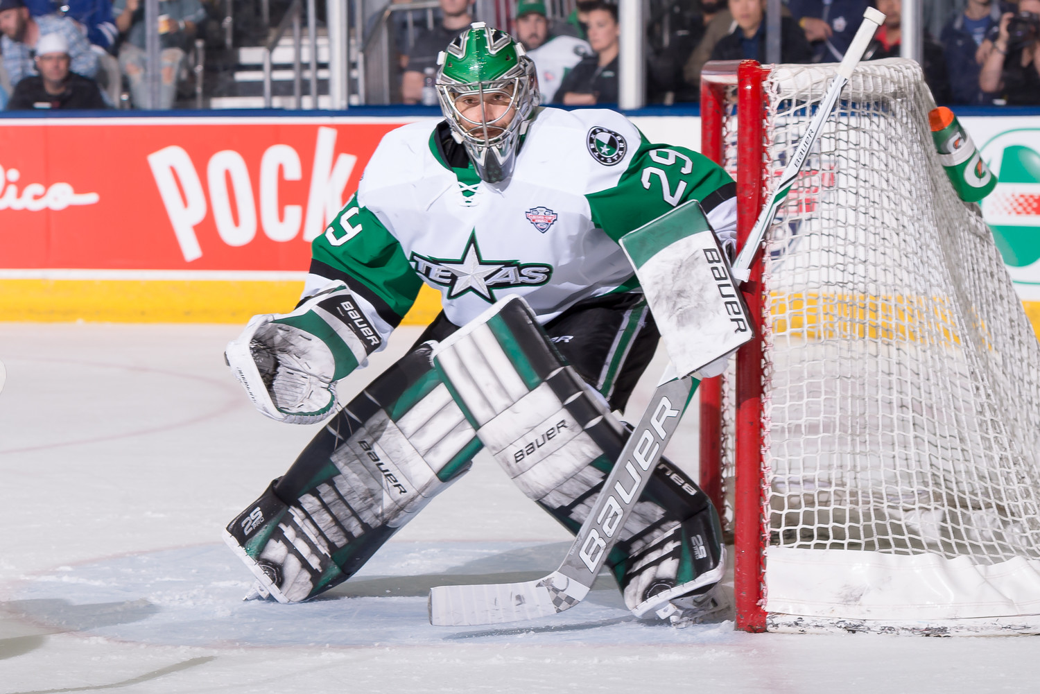 Mike McKenna and the Stars lost to the Toronto Marlies 6-5 in Game 1 of the Calder Cup Finals on Saturday.