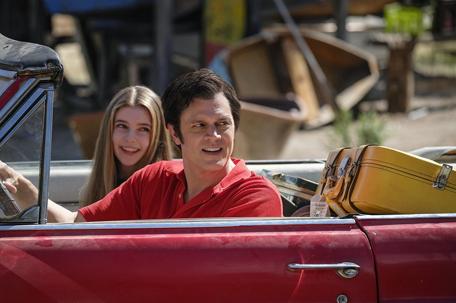"Johnny Knoxville and Eleanor Worthington-Cox star in ""Action Point,"" which opens in theaters this week."