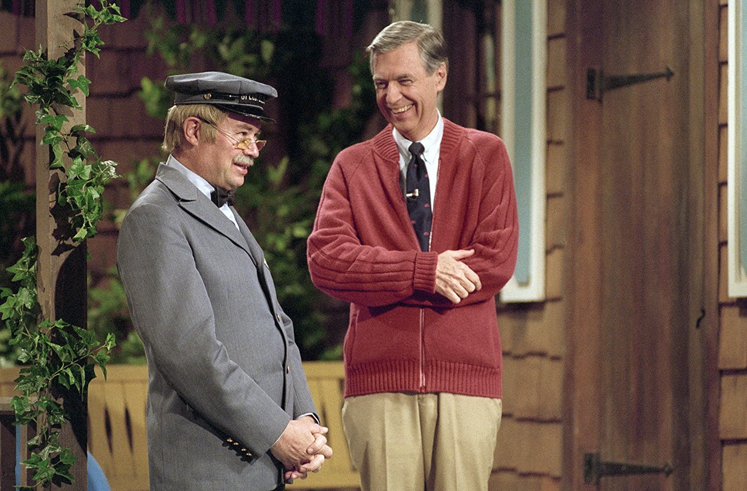 "David Newell and Fred Rogers star in the documentary ""Won't You Be My Neighbor?"""