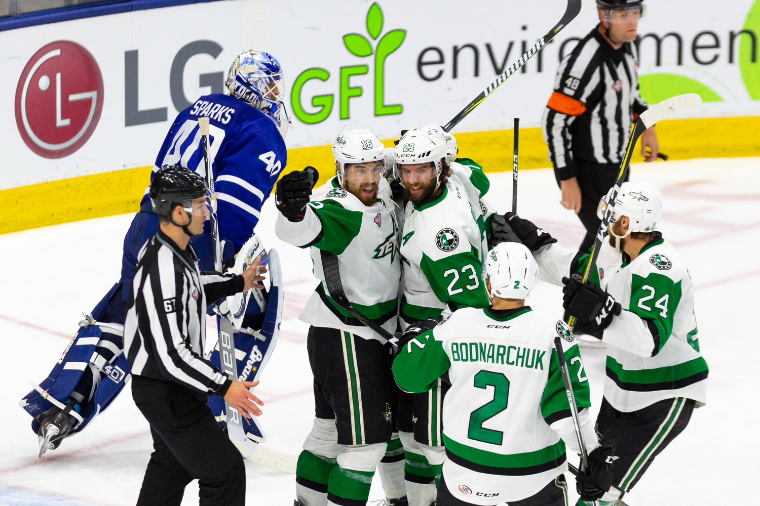 The Texas Stars beat the Toronto Marlies 5-2 in Game 6 of the Calder Cup Finals Tuesday to force a decisive Game 7 Thursday night in Canada.