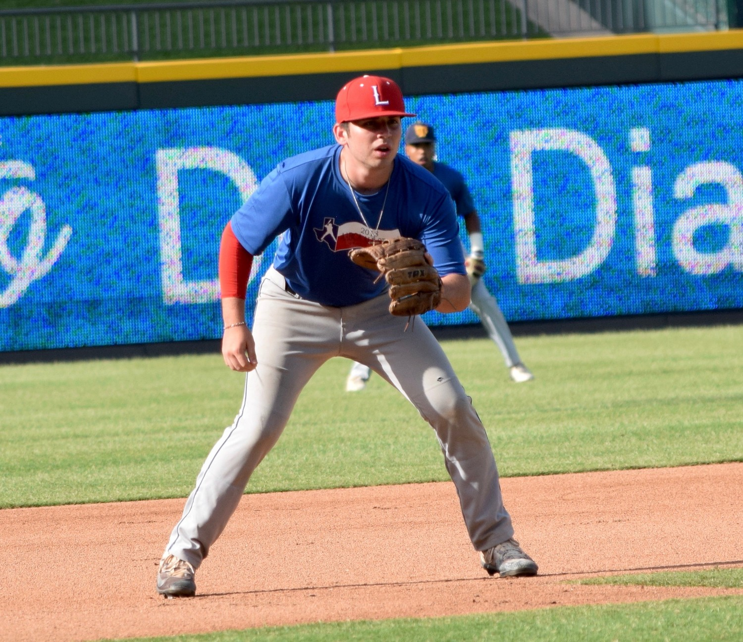 Leander's Joel Rios participated in the Austin Area Baseball Coaches Association All-Star Game Saturday at Dell Diamond. His North team beat the South 21-5.