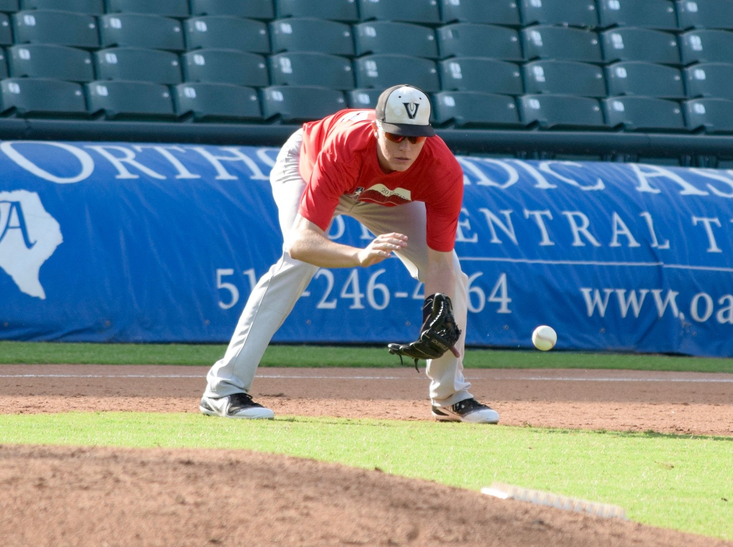 Vandegrift senior Justin Moore and participated in the Austin Area Baseball Coaches Association All-Star Game Saturday at Dell Diamond. His South team lost to the North 21-5.