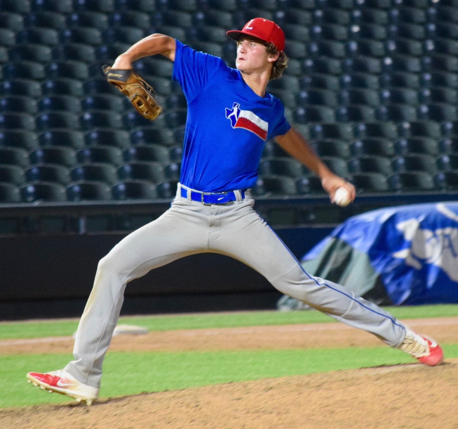 Leander's Mason Montgomery participated in the Austin Area Baseball Coaches Association All-Star Game Saturday at Dell Diamond. His North team beat the South 21-5.