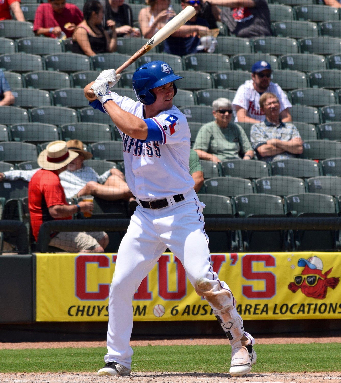 Express outfielder Scott Heineman finished with two hits and two RBIs, including a solo home run, but Round Rock lost to the Colorado Springs Sky Sox 7-2 on Sunday night.