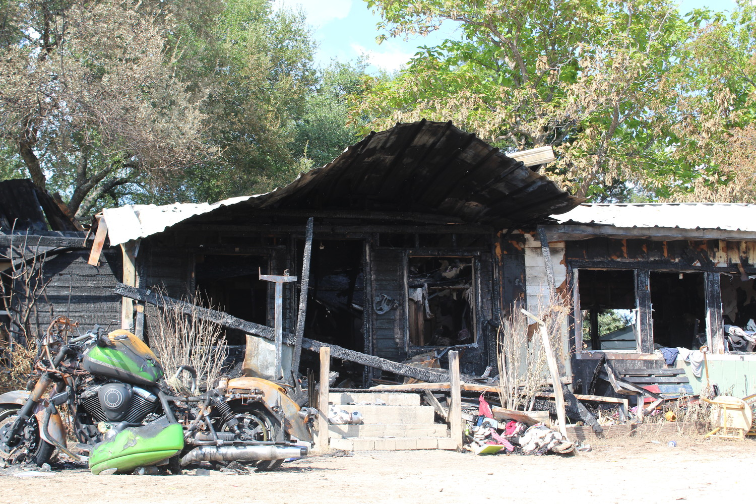 Witnesses say Gary Lee Dill approached the porch at this property in the 800 block of CR 270 and lit various clothing and paper on fire with a tiki torch on July 4. The house burned, destroying the property and contents.