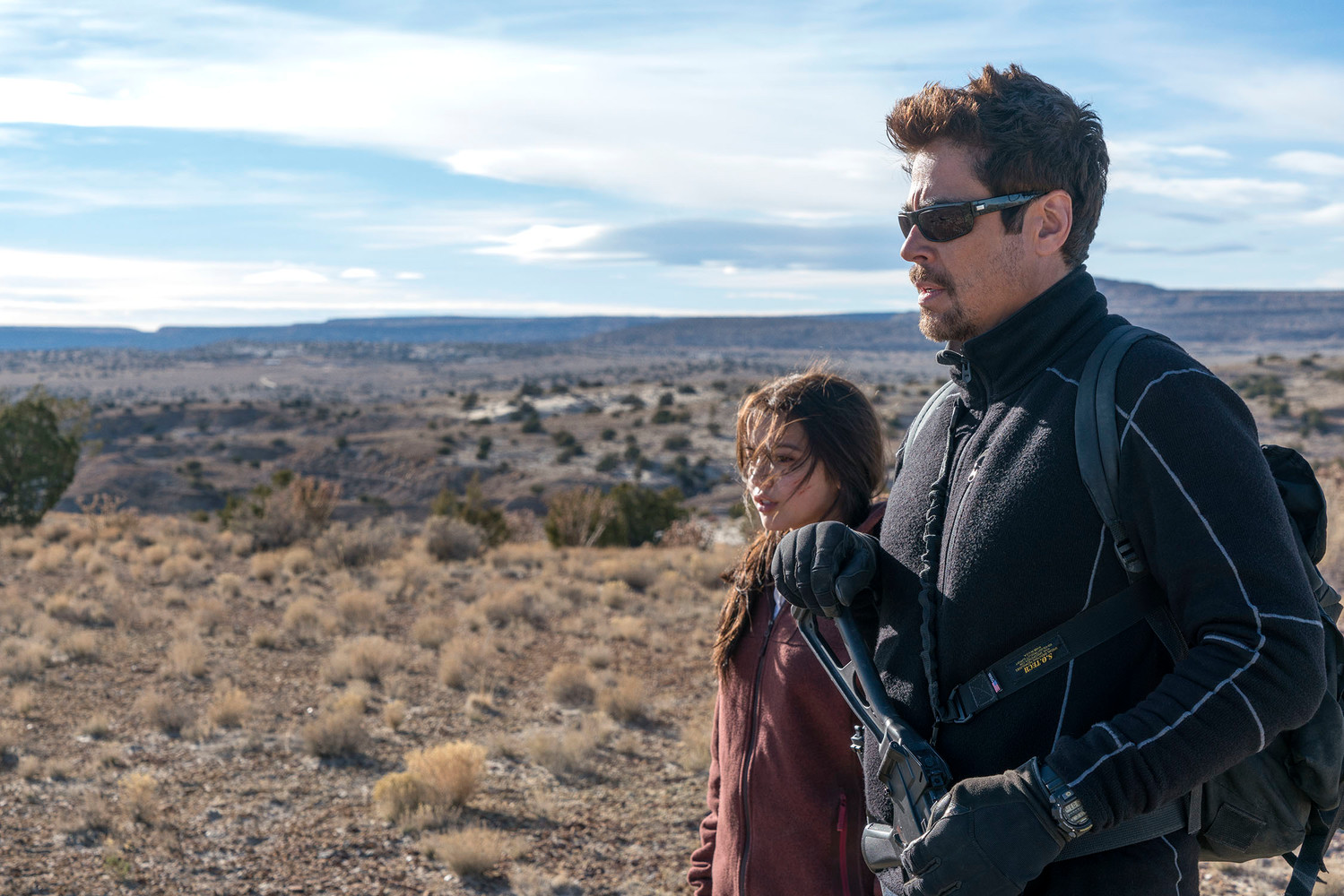 "Benicio Del Toro and Isabela Moner in ""Sicario: Day of the Soldado,"" out in theaters now."