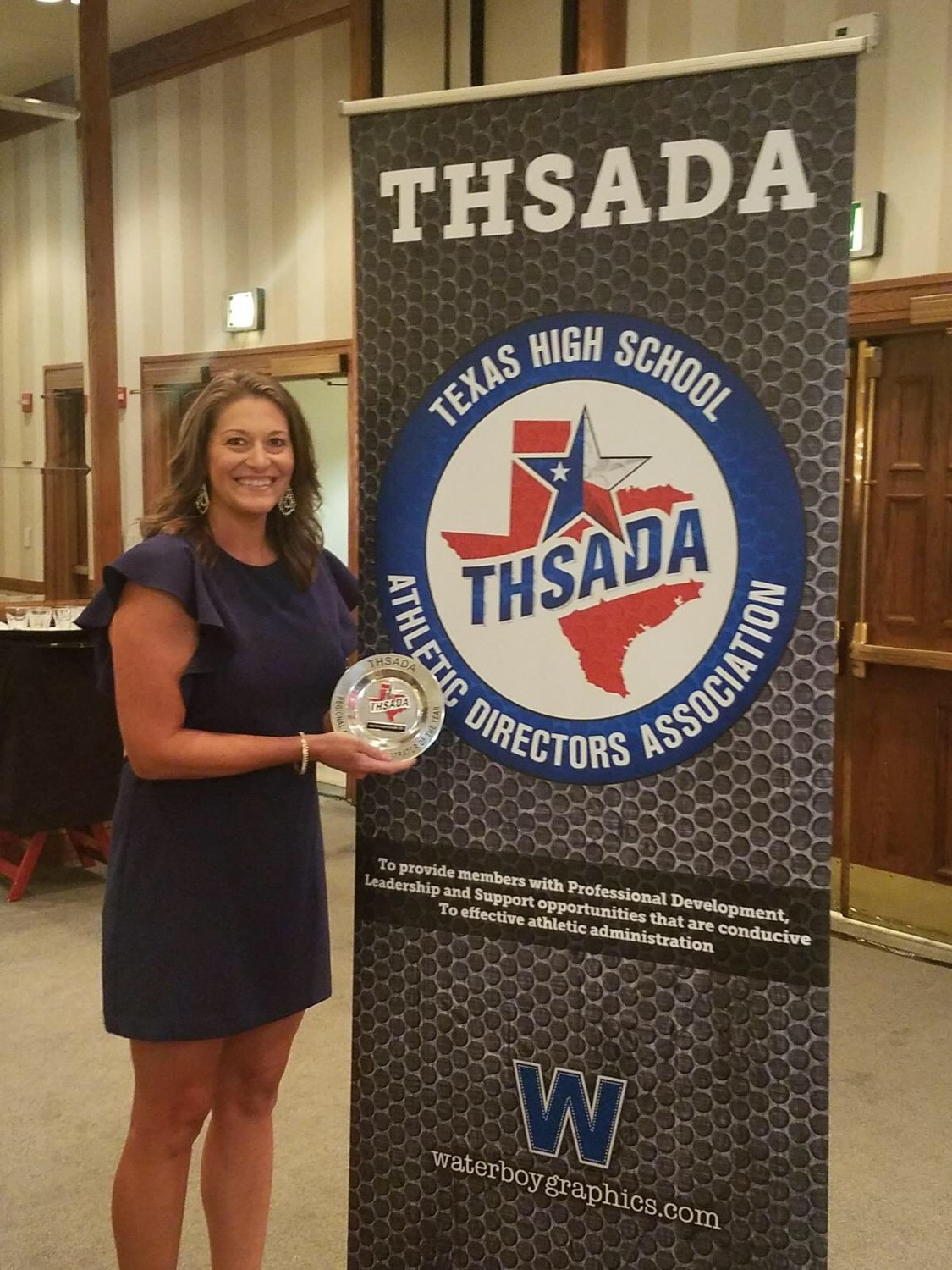 Leander ISD athletic director Jody Hormann was presented with the THSADA Region 6 AD of the Year award at the Texas High School Athletic Directors Association Hall of Honor banquet in San Antonio on Sunday.