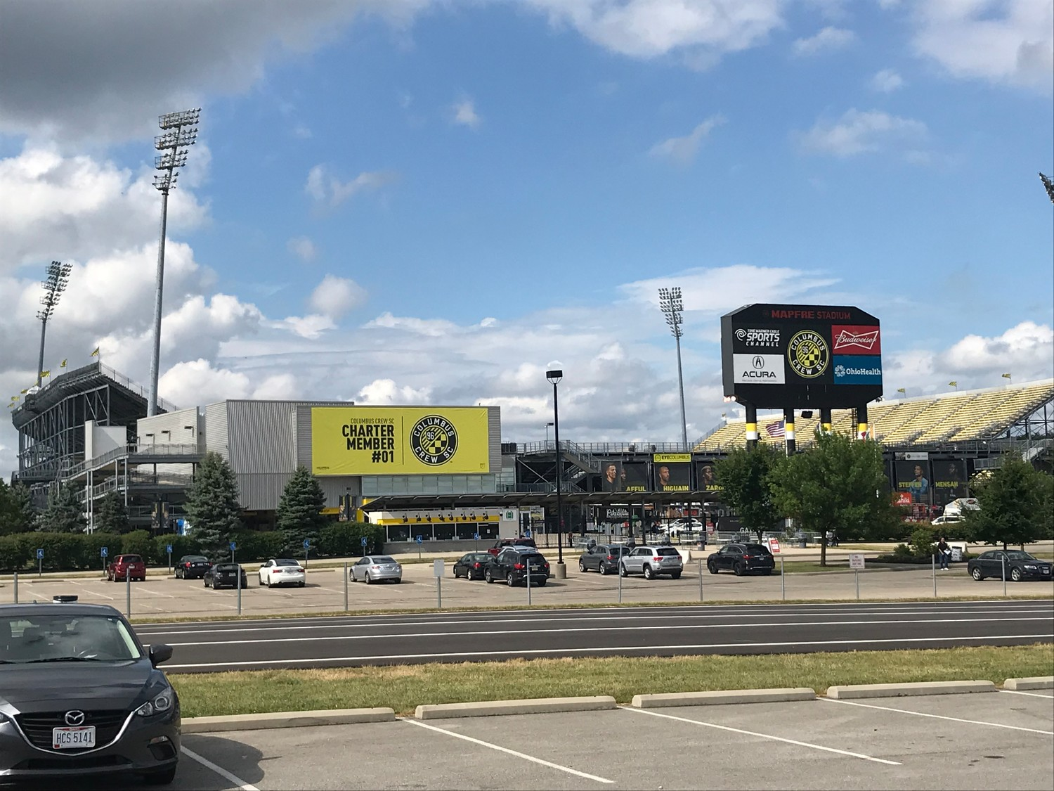 Mapfre Stadium, home of Columbus Crew SC, ahead of the game before Orlando City SC on Saturday evening.