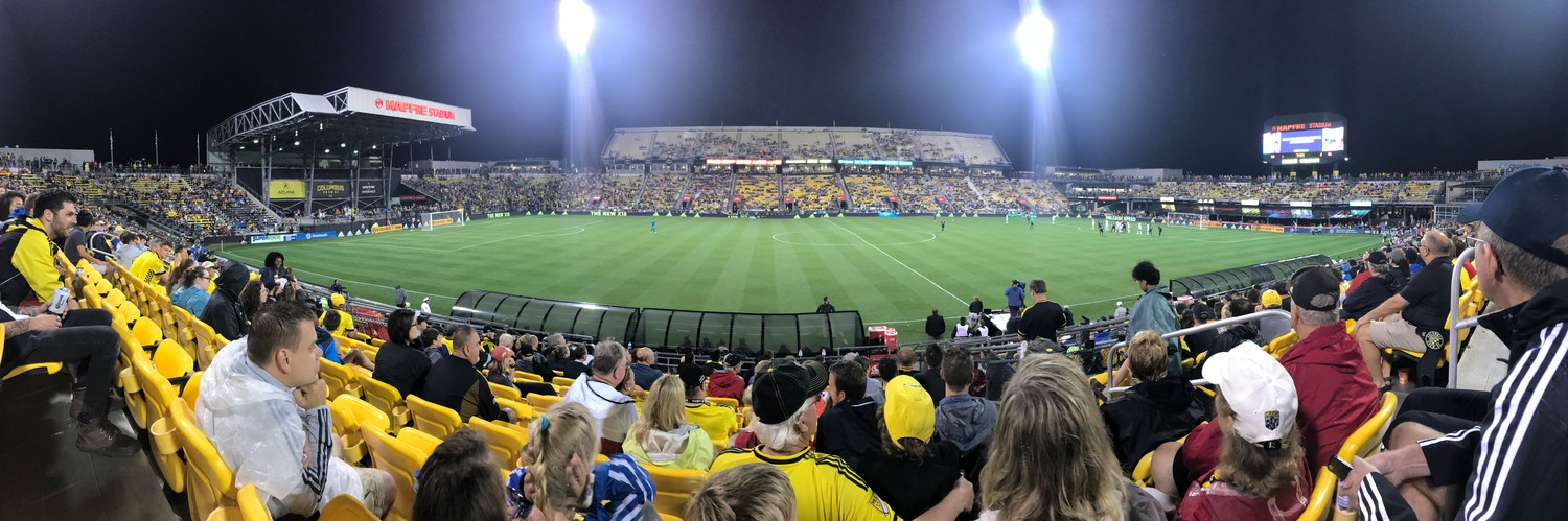 The announced attendance for the Columbus vs. Orlando City game on Saturday was 14,052, one of the best-attended games of the season.