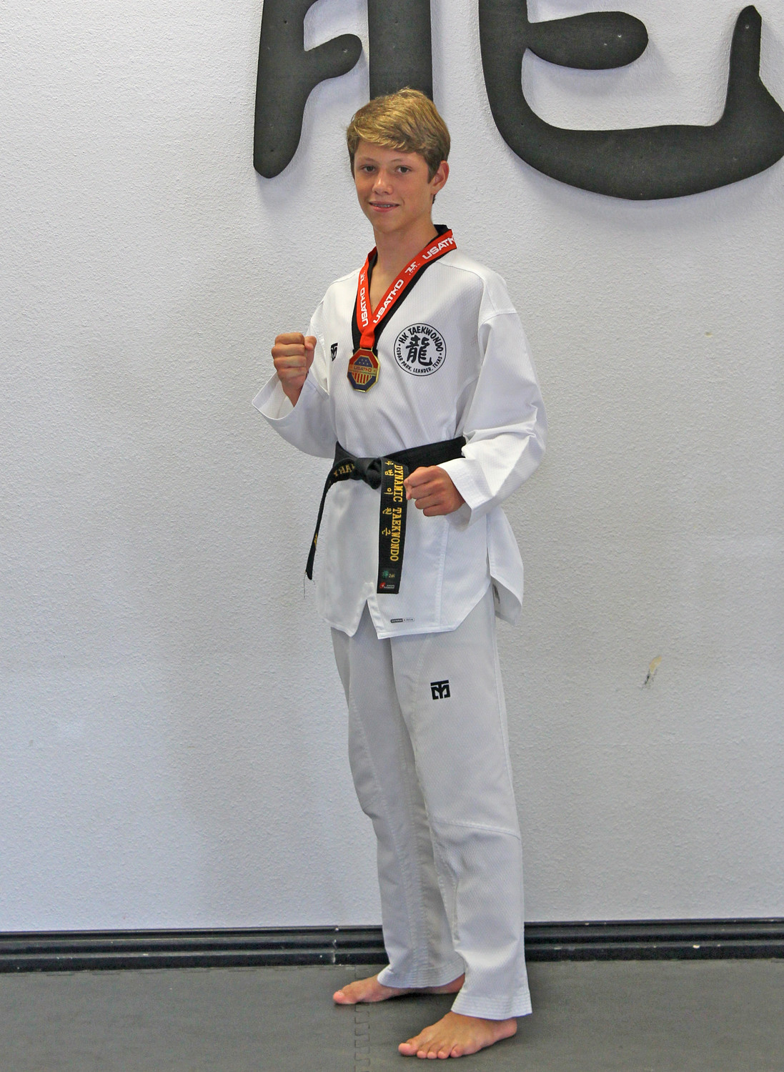 Zachary Houston, a 13-year-old student at Canyon Ridge Middle School, recently won a gold medal at the USA Taekwondo National Competition in Salt Lake City.