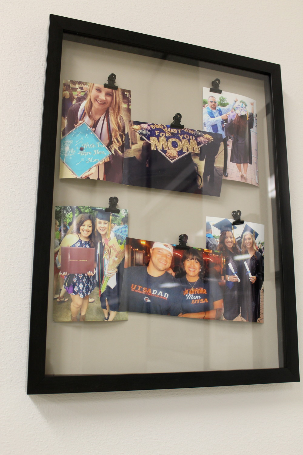 A photo collage dedicated to Christine Camacho, former LISD registrar and namesake of Christine Camacho Elementary, is a part of the school's new Family Resource Center.