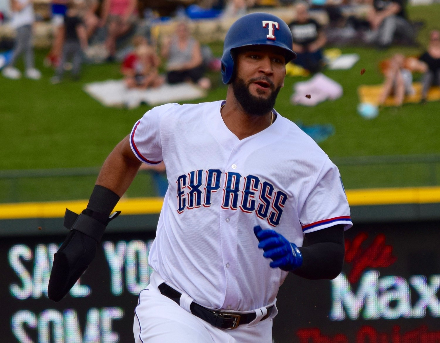 Rangers outfielder Nomar Mazara has 40 hits, 19 RBIs and two home runs in 27 career games with the Round Rock Express.
