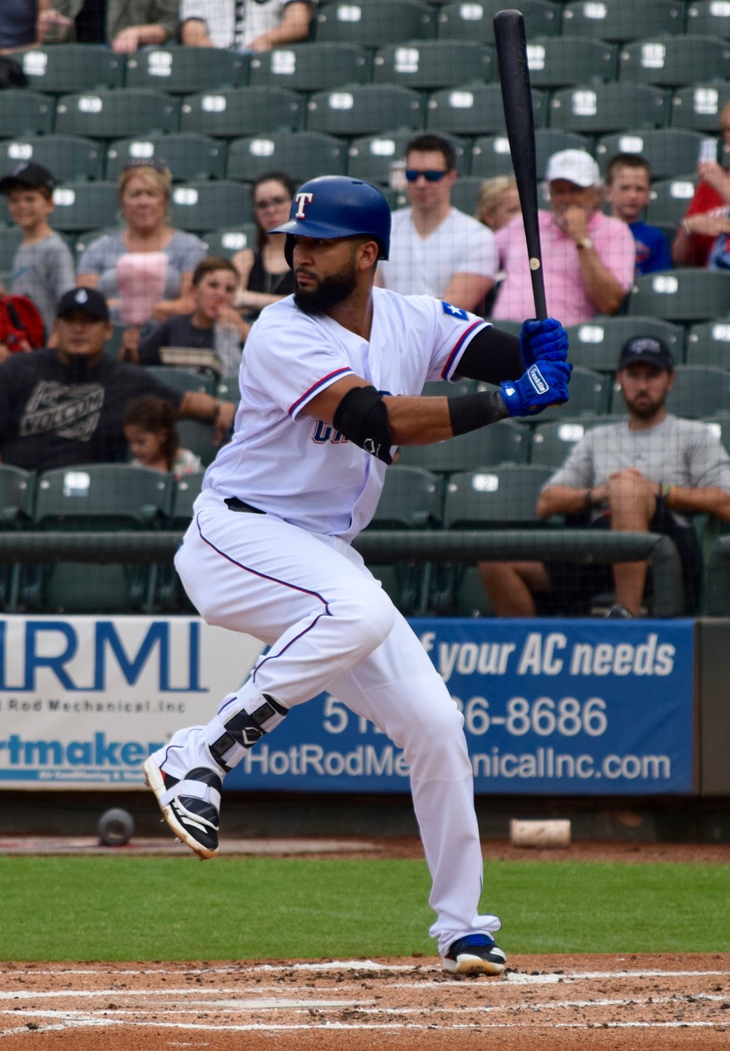 Nomar Mazara injured his thumb diving for a catch in right field against the Baltimore Orioles on July 14 and is hitting .272 with 15 home runs, 58 RBIs and one stolen base in 91 big-league games this season.