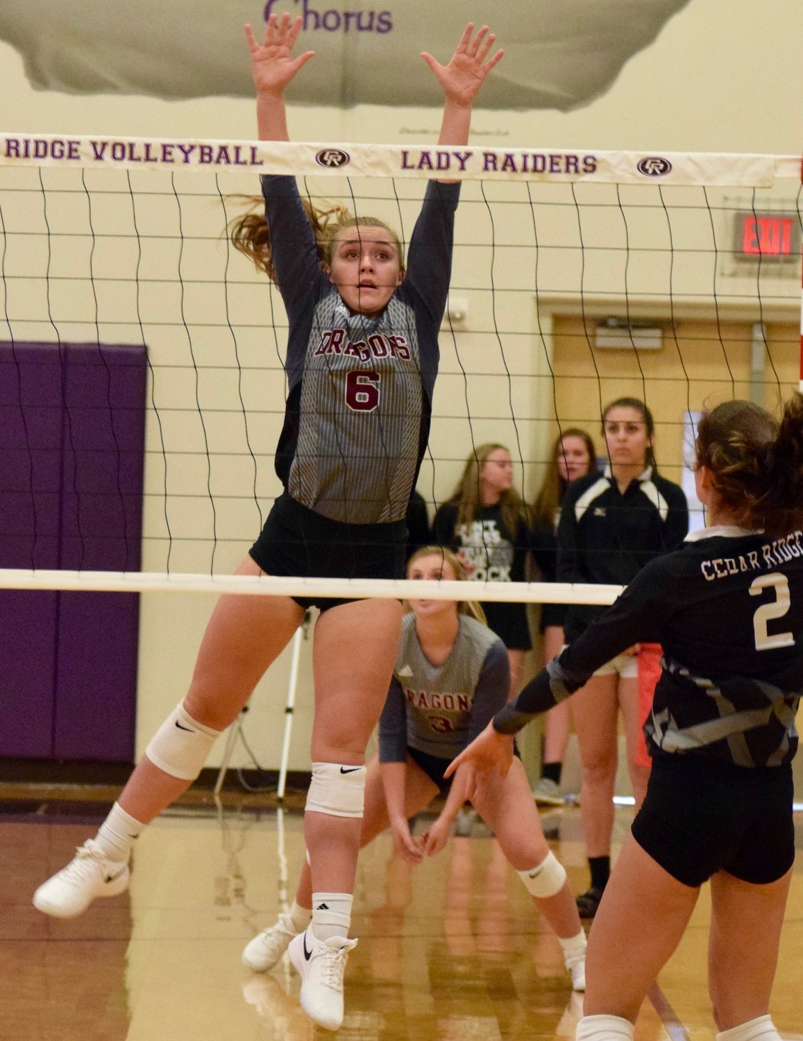 Emma Young and Round Rock beat Cedar Ridge 3-0 (25-22, 25-23, 25-23) in the first game of district 13-6A play on Tuesday night.