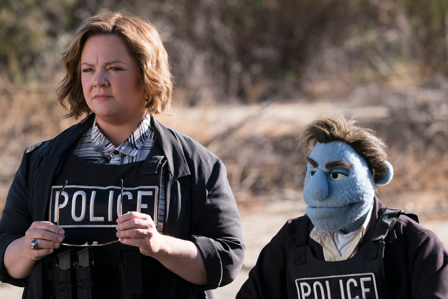 "Melissa McCarthy stars in ""The Happytime Murders,"" playing in area theaters now."