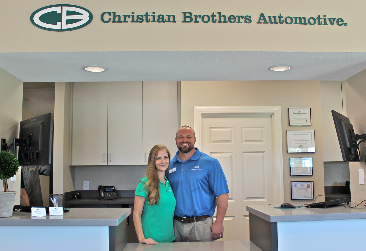 Owners Brad and Crystal Escue recently opened a new Christian Brothers Automotive franchise in Leander.