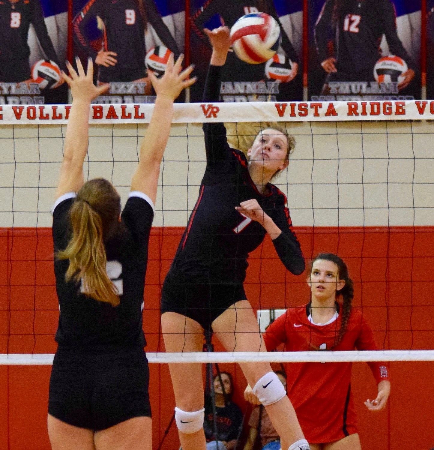 Kate Childre and Vista Ridge swept Vandegrift 3-0 (25-15, 25-22, 25-17) to pick up their second straight district win on Tuesday night.
