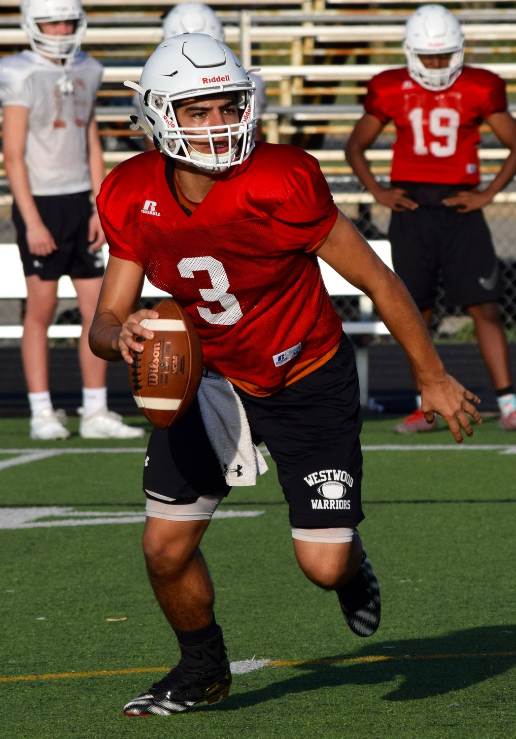 R.J. Martinez will take over the reigns at quarterback for Westwood this season for three-year starter Will Jennings.