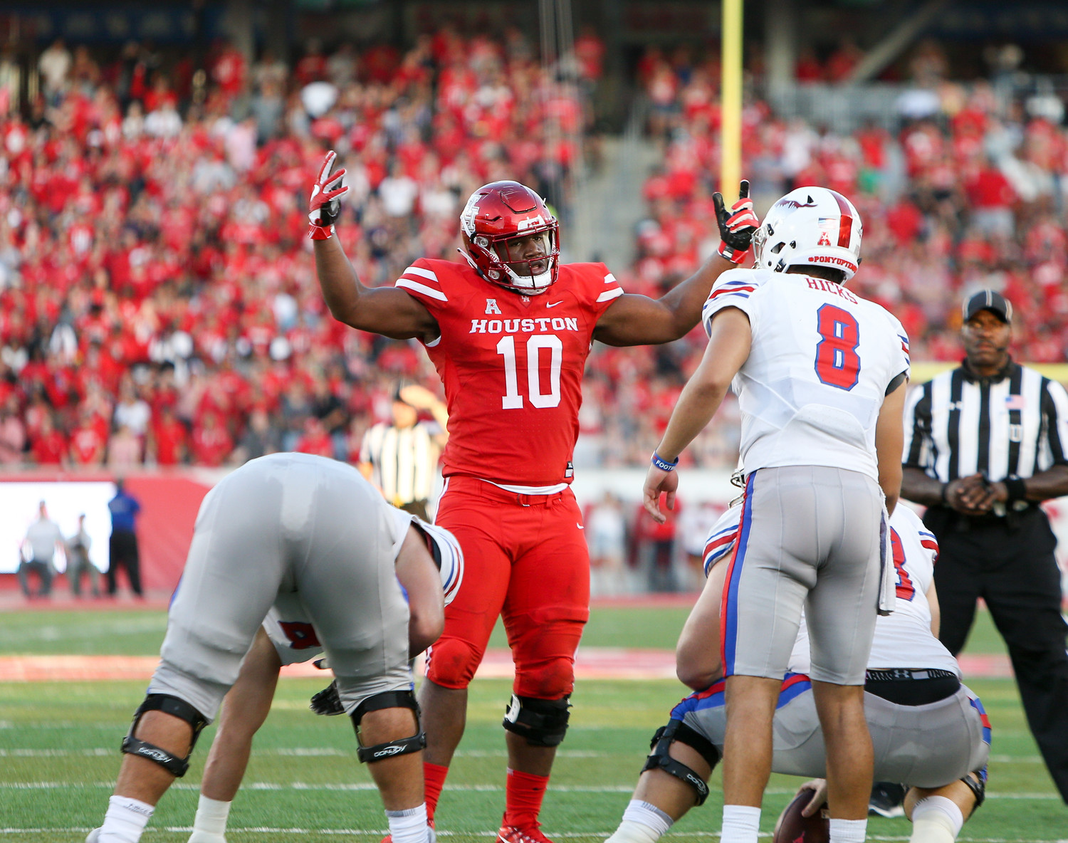Ed Oliver had five  total tackles as Houston beat Rice 45-27 on Saturday afternoon.
