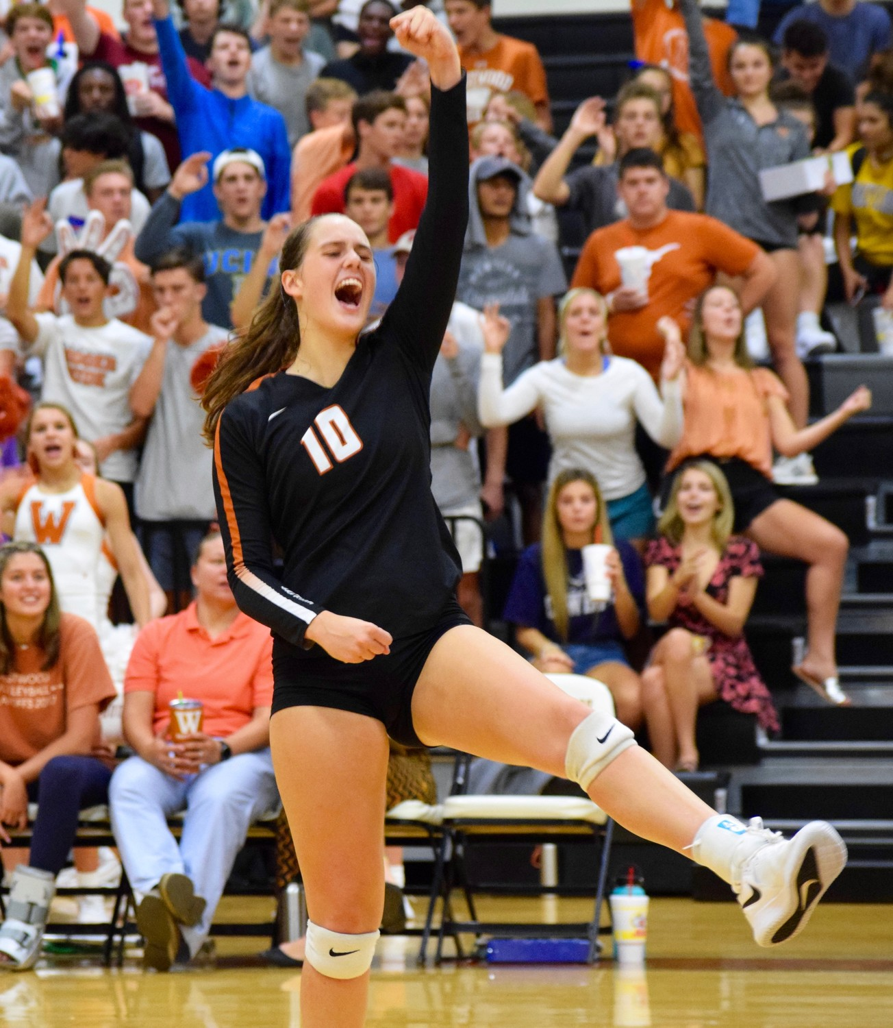 Audrey Quesnel and Westwood beat McNeil 3-1 (25-21, 25-17, 19-25, 28-26) on Tuesday night to remain one of two teams still undefeated in District 13-6A play.