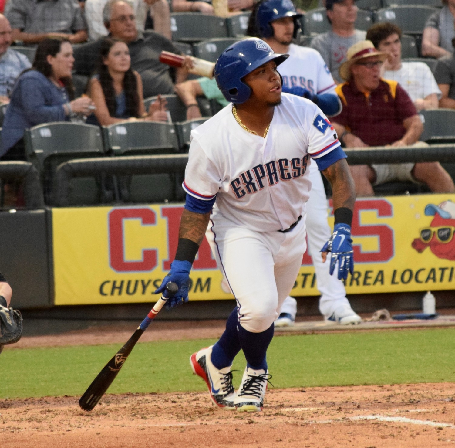 Outfielder Willie Calhoun was called up to the Texas Rangers for the second time in his career this season. During his time with the Express this season, he led the team in most offensive categories.