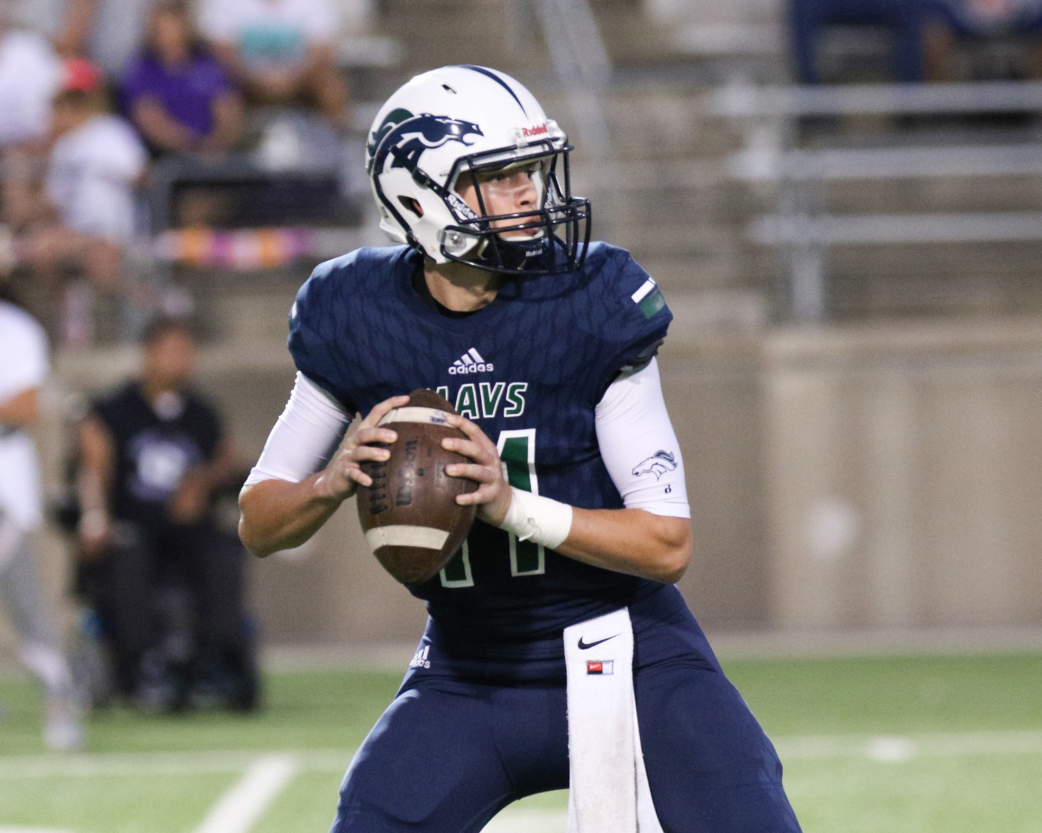 McNeil quarterback Zane Kampfer threw for more than 300 yards and three touchdowns in the season opener against Del Valle. The Mavericks face off with Glenn on Friday.