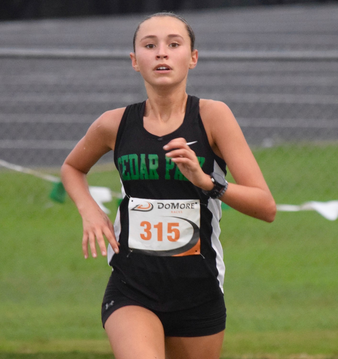 Cedar Park junior Gracie Hall finished 9th at the Cedar Park XC Invitational on Saturday with a time of 19:00.1.