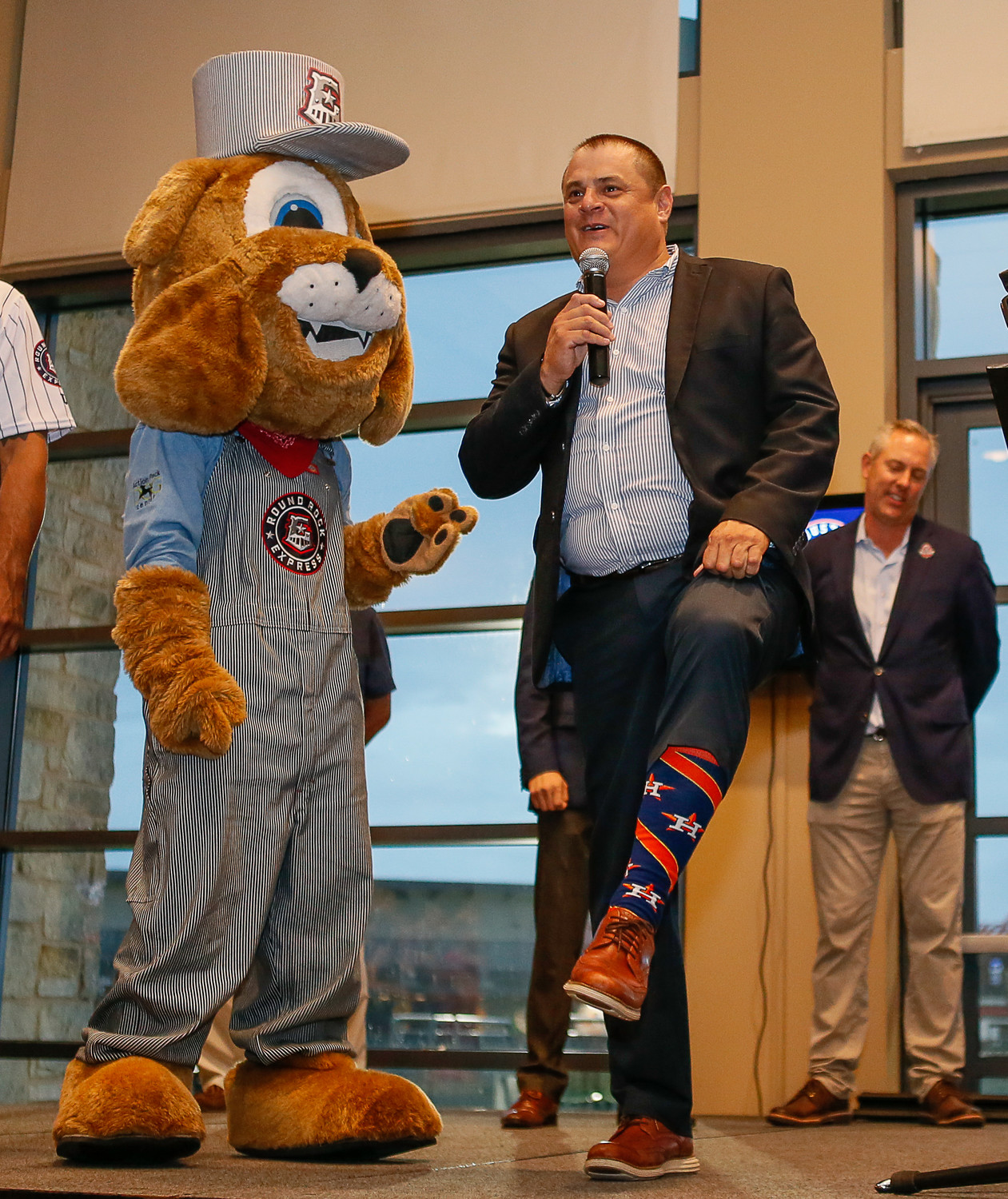 Round Rock Express president Chris Almendarez and Houston Astros announced a four-year Professional Development Contract on Thursday evening.