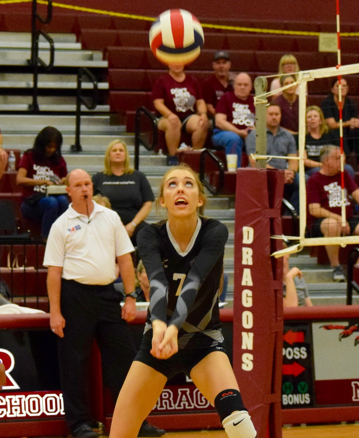 Cassie Cox and Cedar Ridge lost to Round Rock  3-0 (25-18, 25-22, 25-23) on Tuesday night.