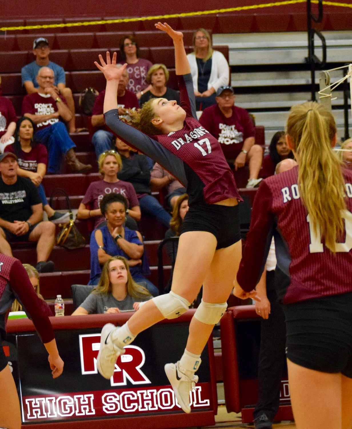 Lauren Malone and Round Rock swept Cedar Ridge 3-0 (25-18, 25-22, 25-23) at home Tuesday night.