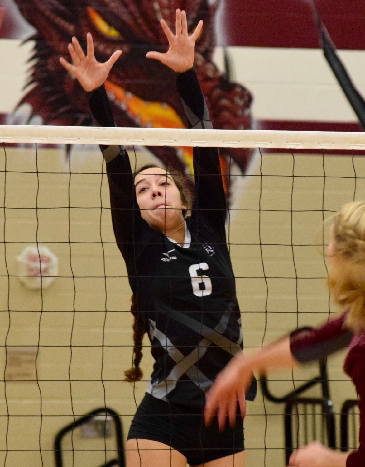 Micayla Harris and Cedar Ridge lost to Round Rock  3-0 (25-18, 25-22, 25-23) on Tuesday night.