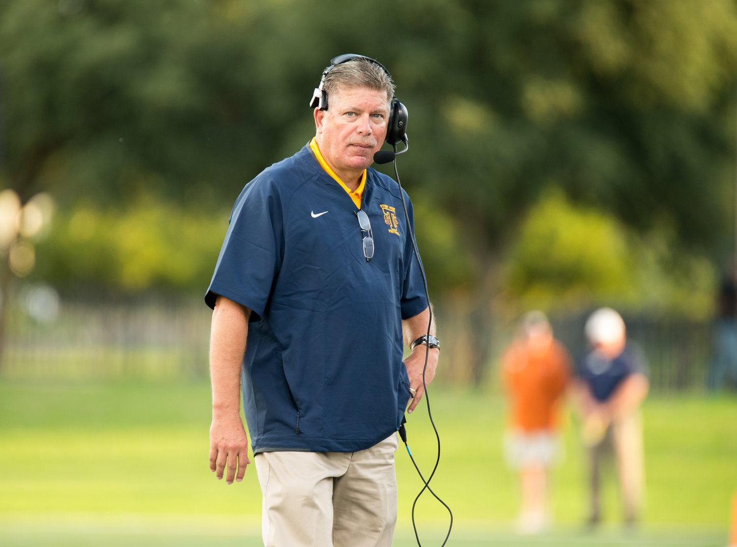 Stony Point head coach Craig Chessher and the Tigers head to The Pfield in Pflugerville on Thursday night to take on Hendrickson. Both teams are 1-1 in District 13-6A play this season.