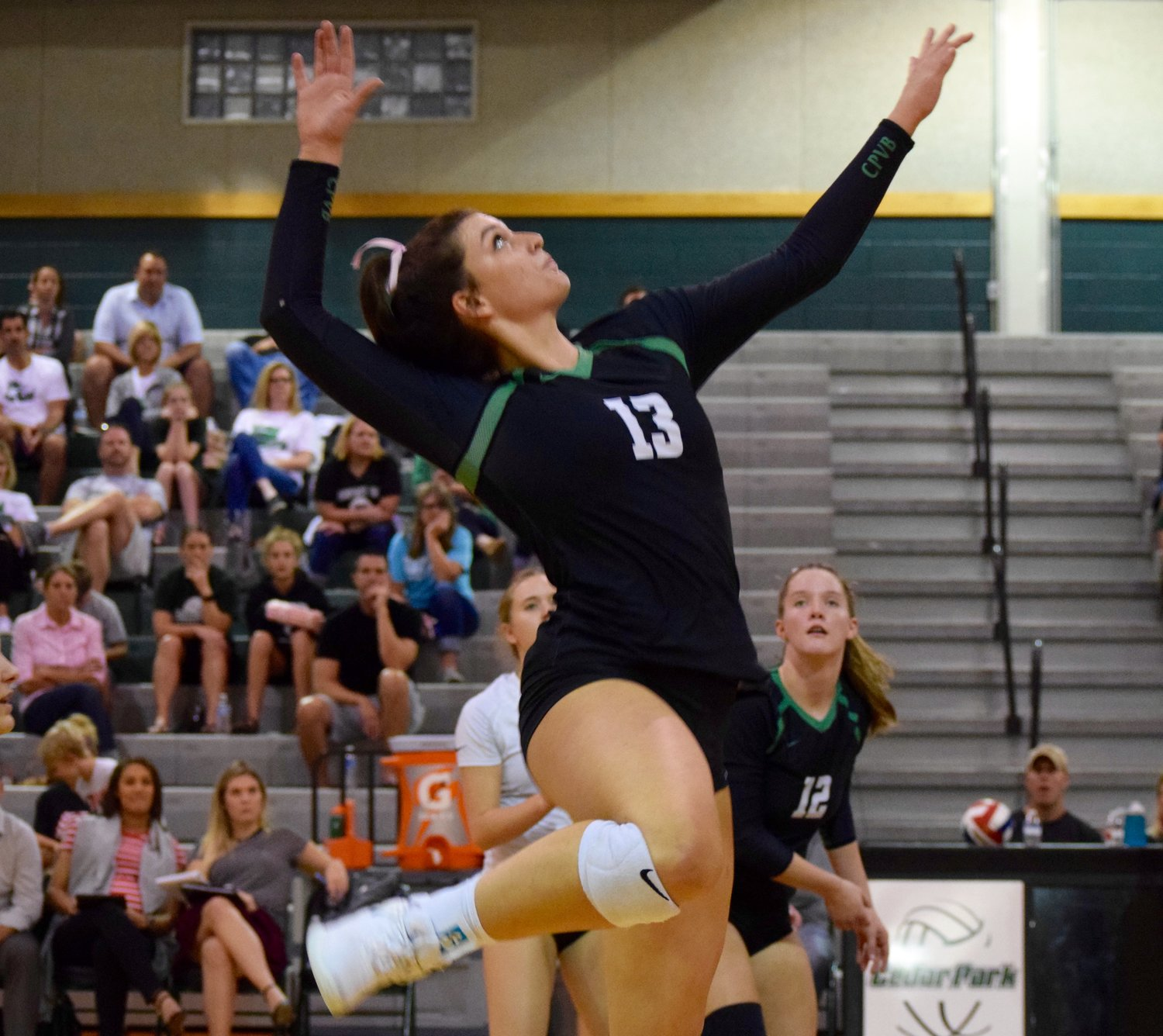 Shelby Epley and Cedar Park swept Glenn 3-0 (25-16, 25-10, 25-14) Tuesday night in the first game of the second round of district play.