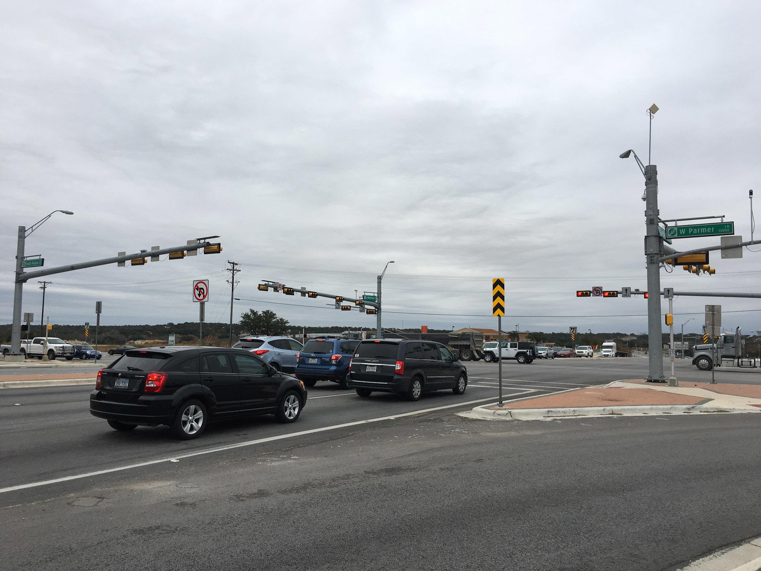 The continuous-flow intersection at RM 1431 and Parmer Lane is one of several major roadway improvements in recent years, as traffic is expected to double by 2035, according to TxDOT.