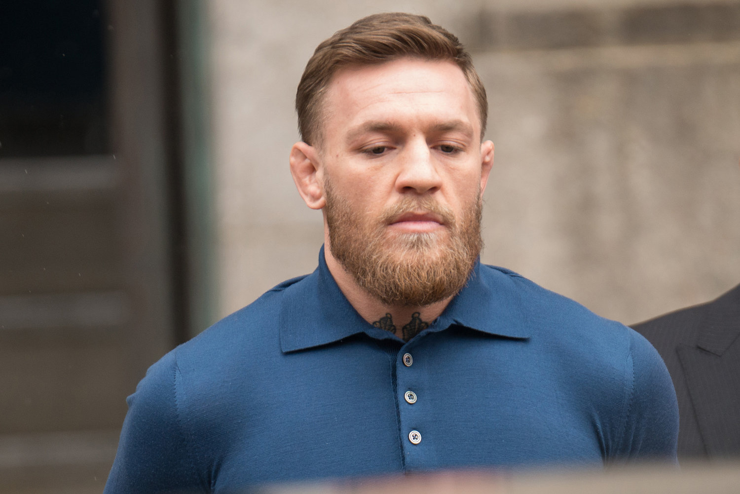 Conor McGregor is taken from the 78th Precinct in Brooklyn on Friday April 6, 2018.
