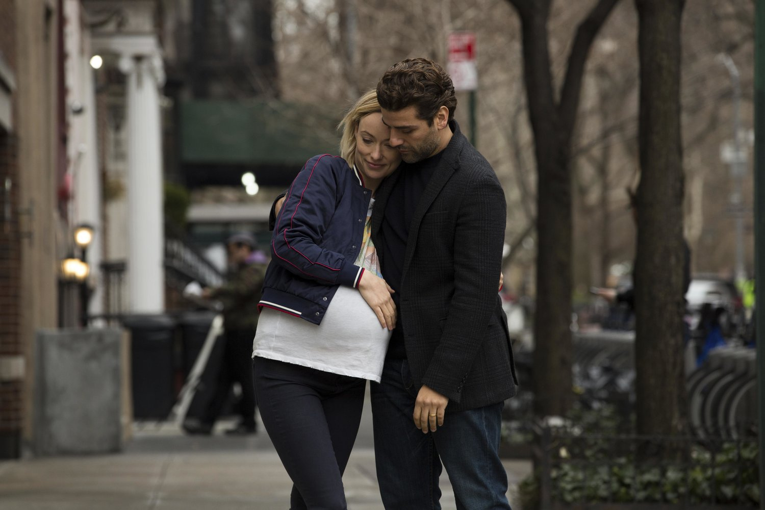 "This image shows Olivia Wilde, left, and Oscar Isaac in a scene from ""Life Itself."""