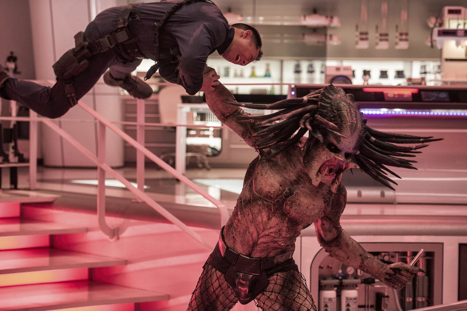 "When a young boy accidentally triggers the universe's most lethal hunters' return to Earth, only a ragtag crew of ex-soldiers and a disgruntled science teacher can prevent the end of the human race in ""The Predator."""