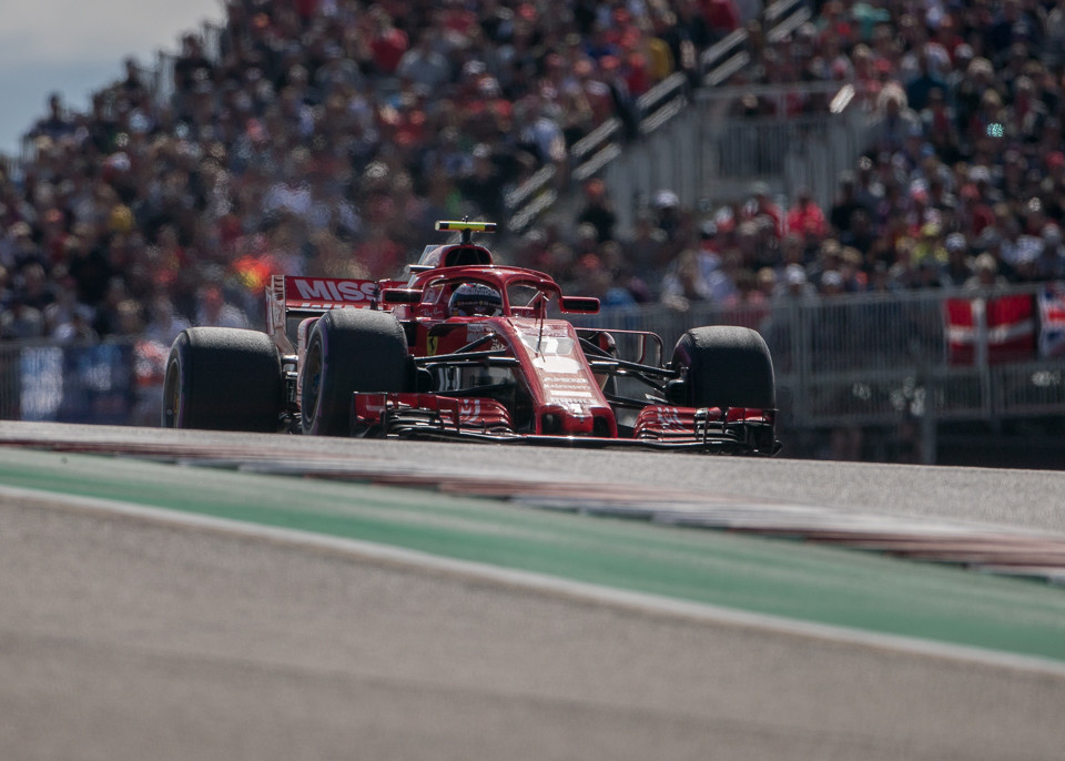 Kimi Raikkonen Wins US Grand Prix, Lewis Hamilton Just