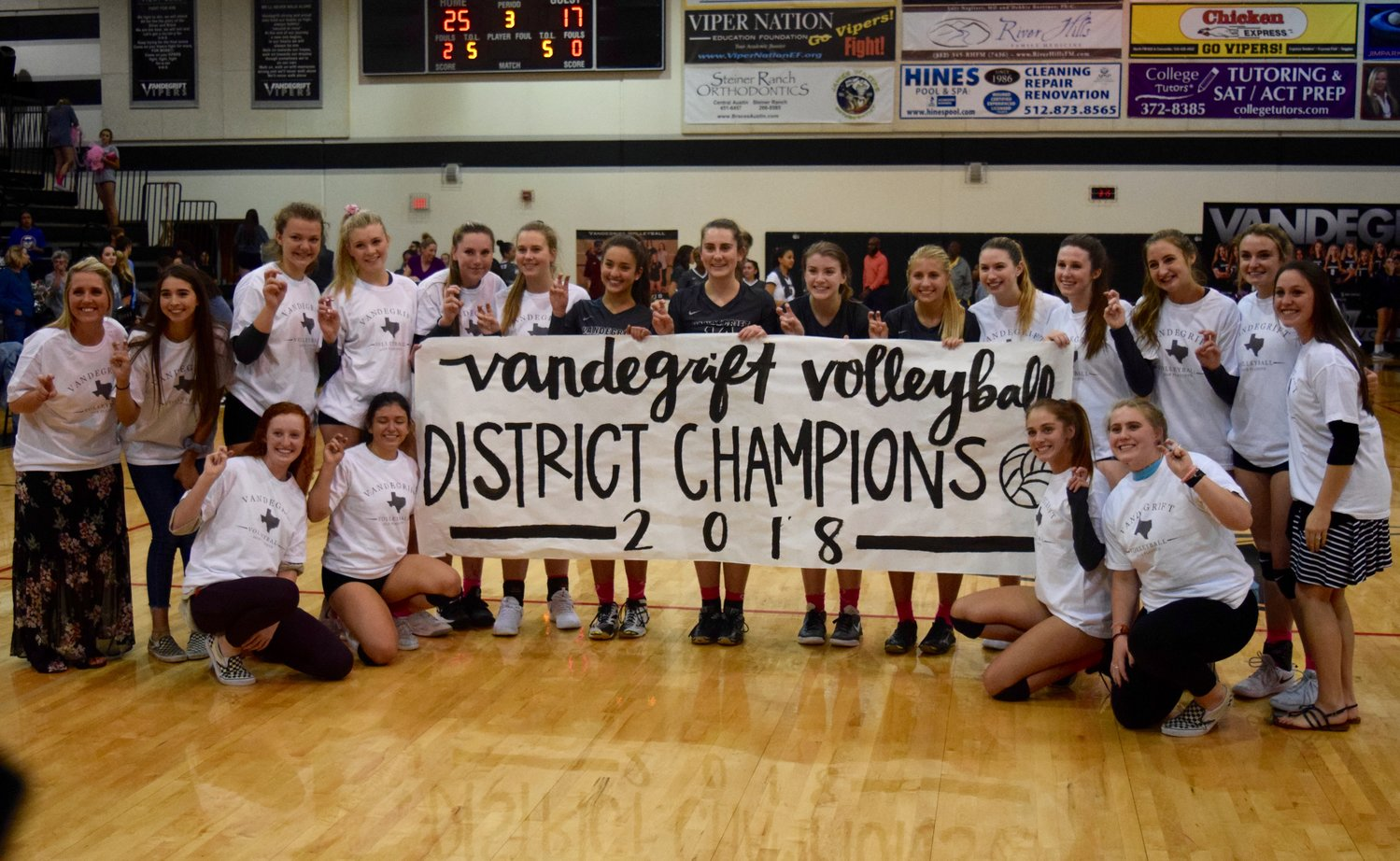 Vandegrift swept Hendrickson 3-0 on Tuesday night to clinch the District 13-6A title.