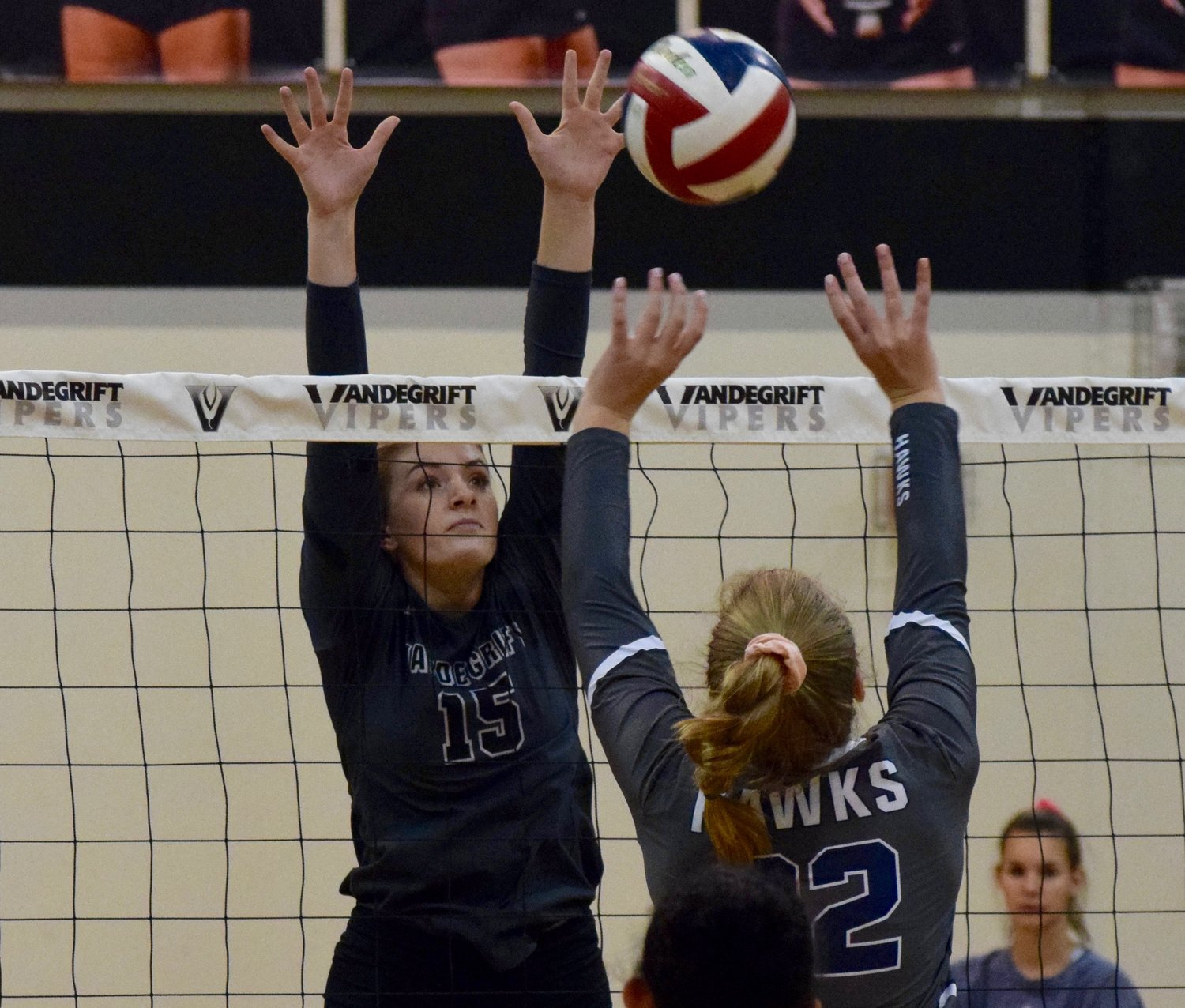 Ari Orrick and Vandegrift swept Hendrickson 3-0 on Tuesday night to clinch the District 13-6A title.