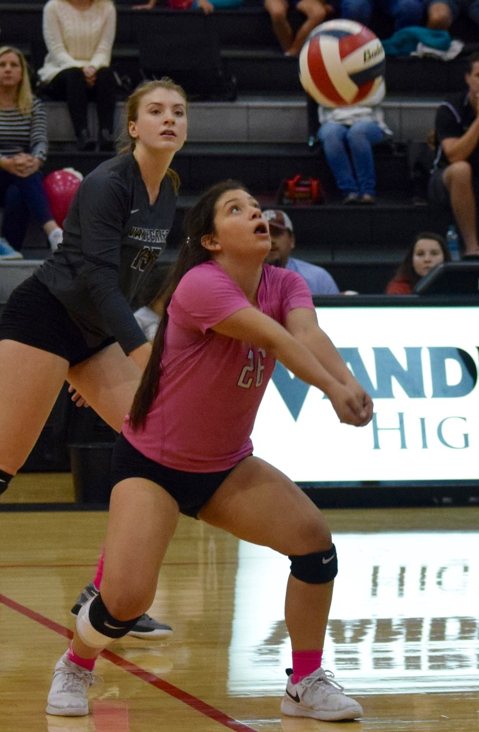 Egadi Santos and Vandegrift swept Hendrickson 3-0 on Tuesday night to clinch the District 13-6A title.