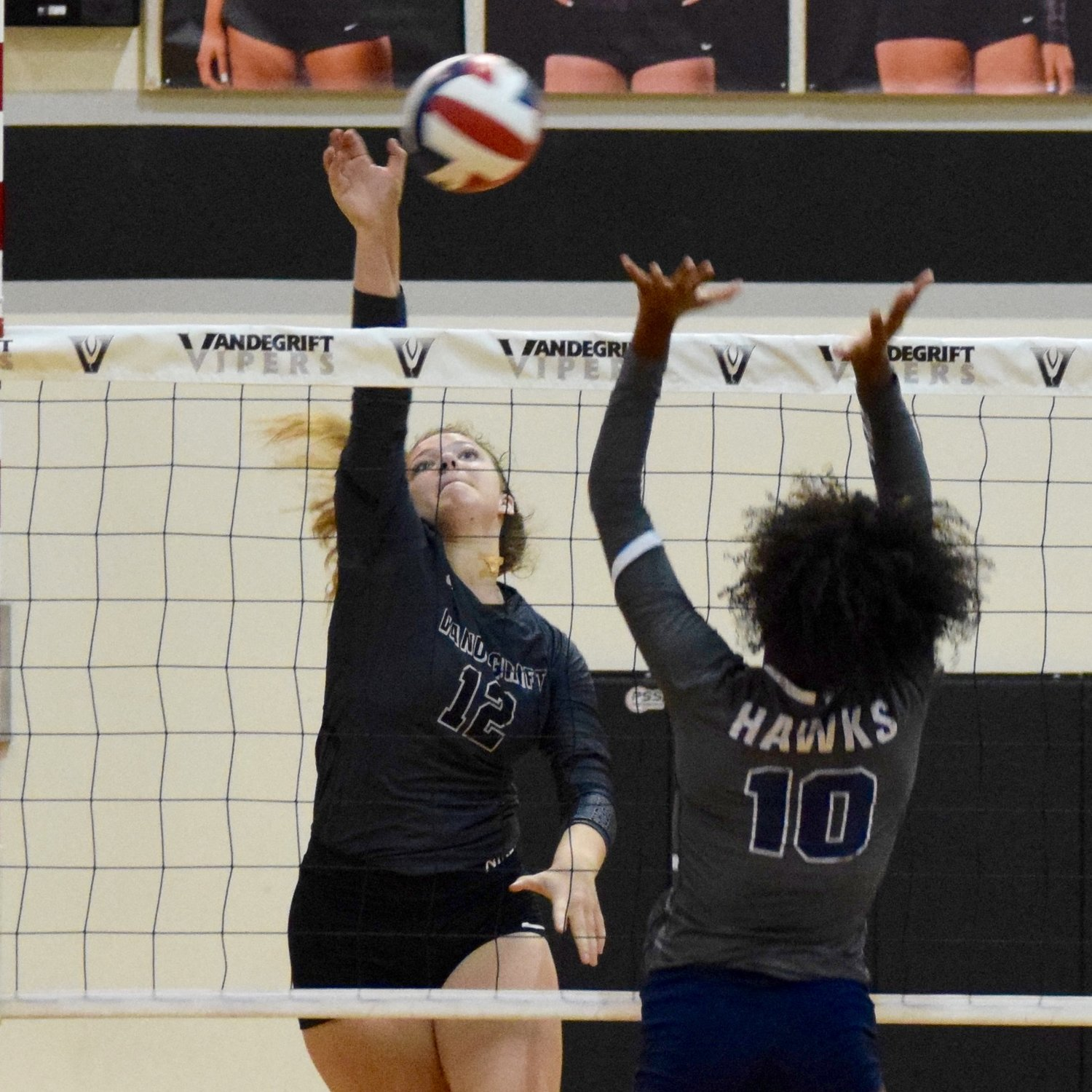 Jules Mokry and Vandegrift swept Hendrickson 3-0 on Tuesday night to clinch the District 13-6A title.