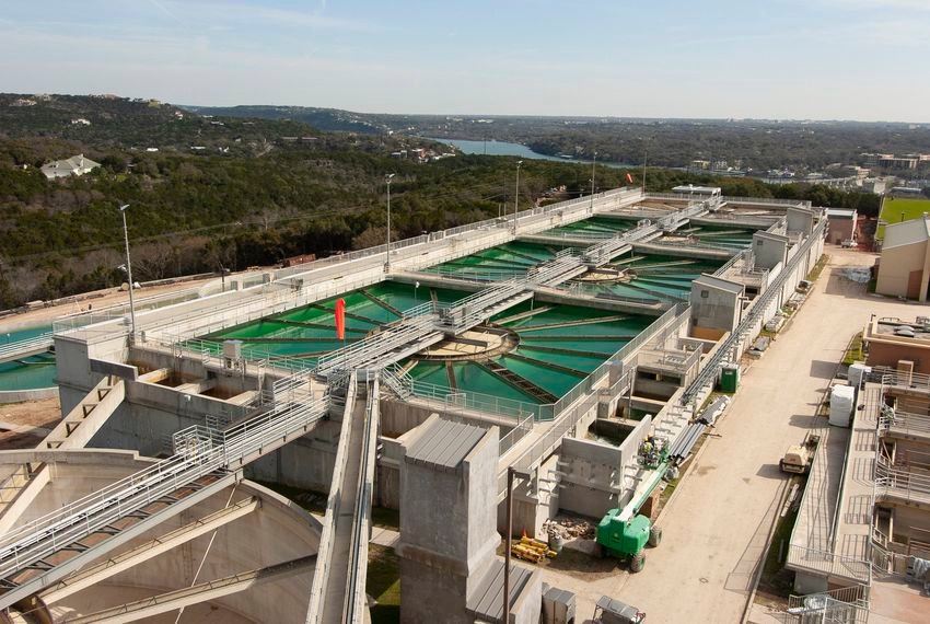 The Ulrich Water Treatment Plant is one of three City of Austin plants that draws water from the Colorado River.