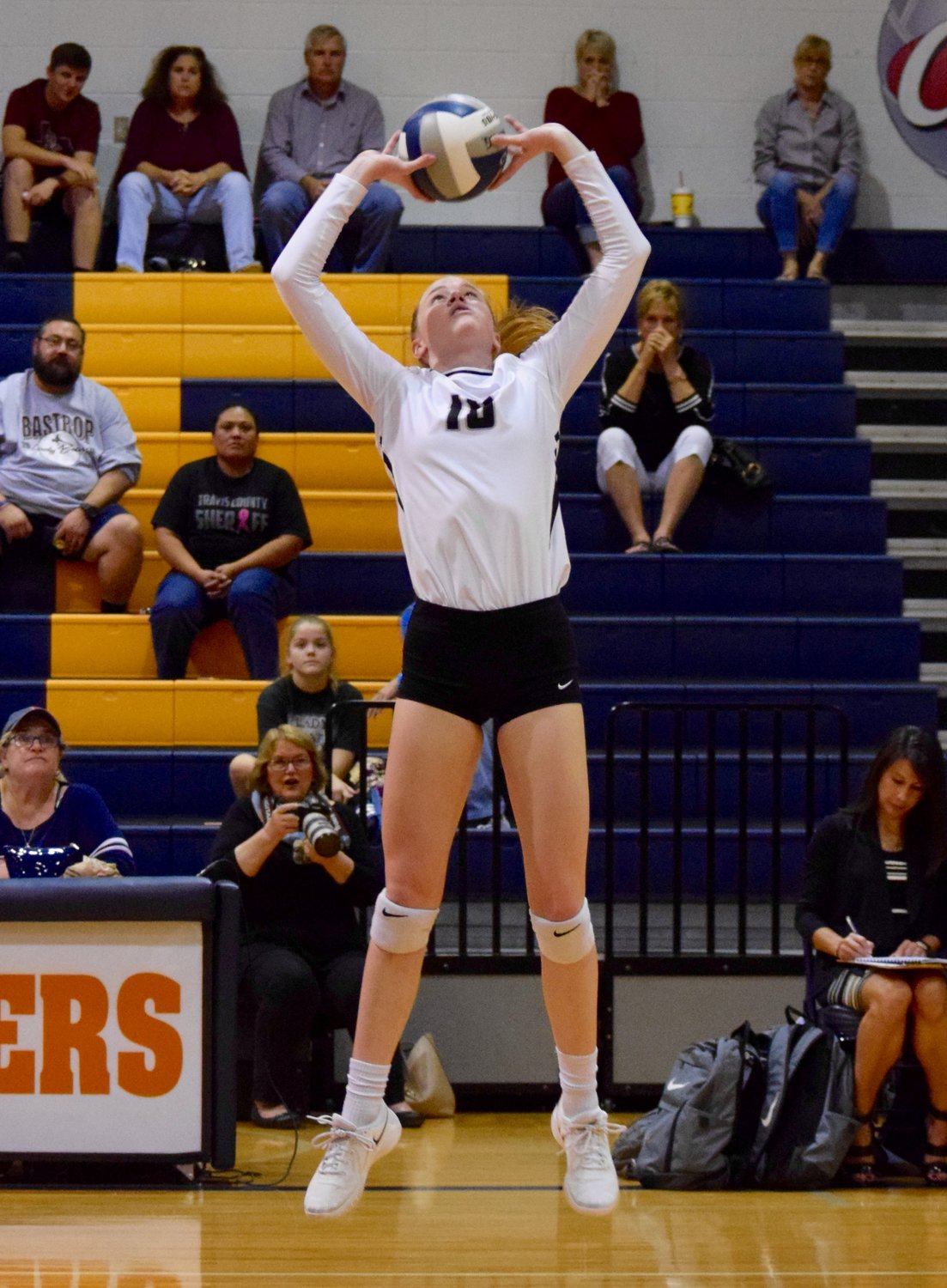 Kara Erfurth and Rouse swept Bastrop 3-0 (25-16, 25-14, 25-23) on Tuesday night to advance to the area round of the playoffs for the third year in a row.