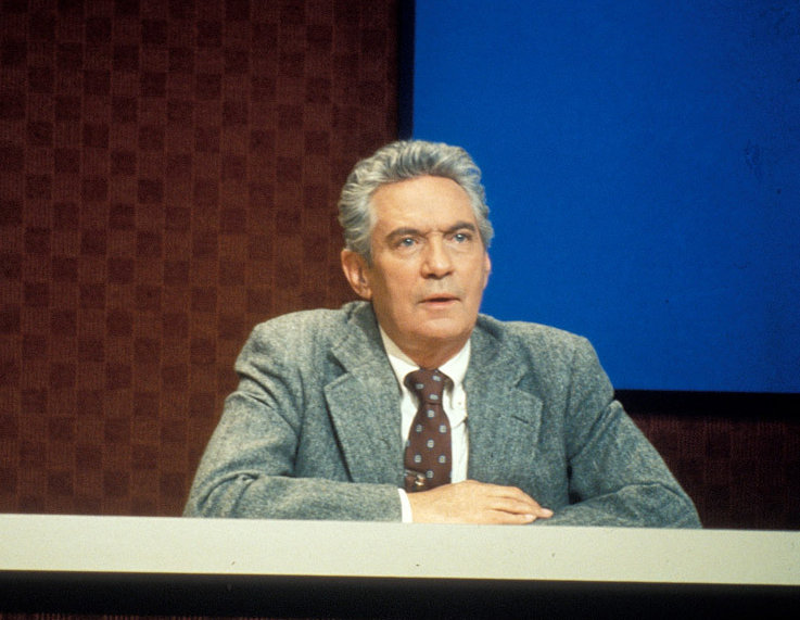 "Peter Finch in the Academy Award-winning film, ""Network."""
