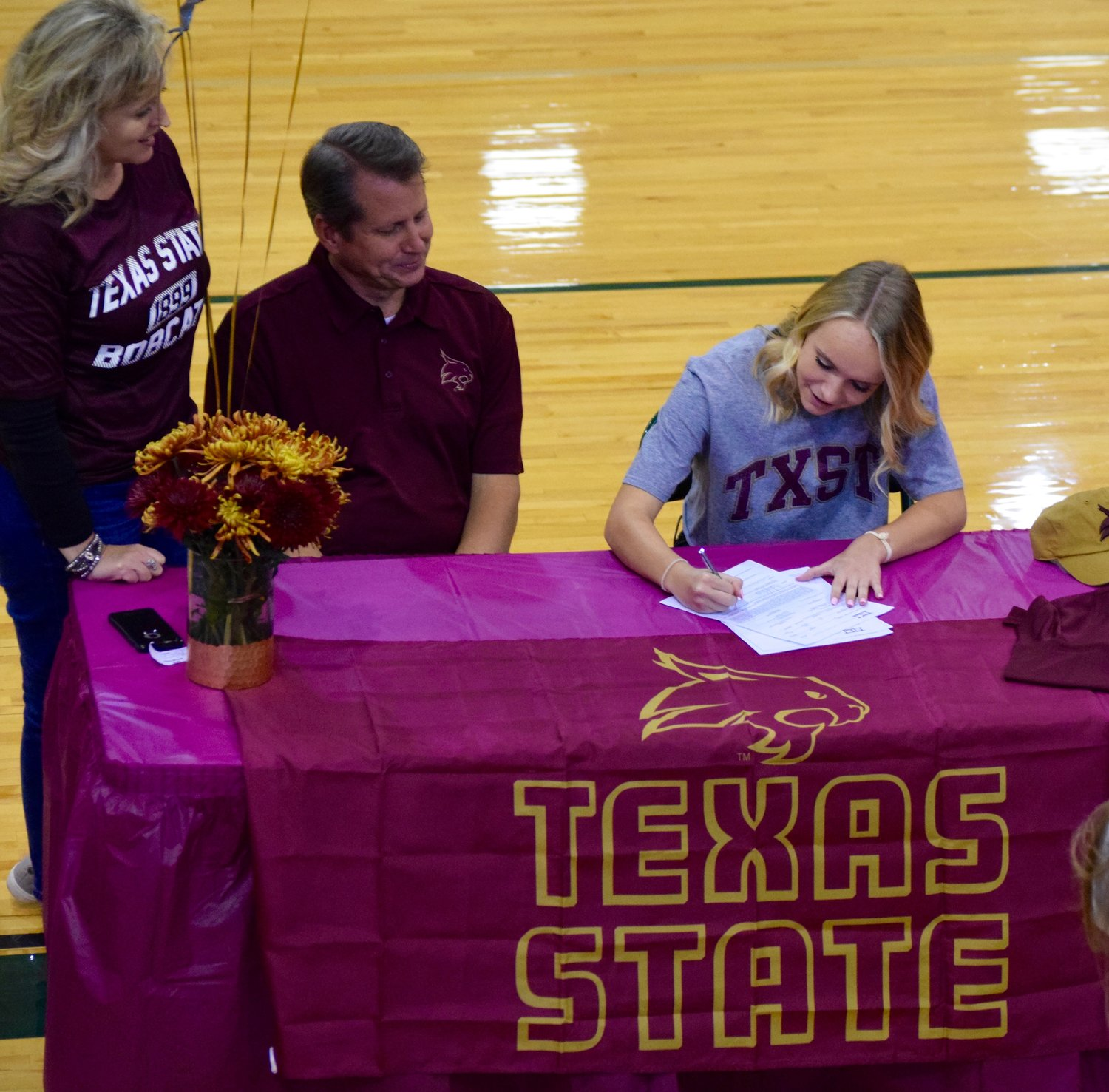 Cedar Park senior Ainsley Forbes signed to play soccer at Texas State University on Thursday.