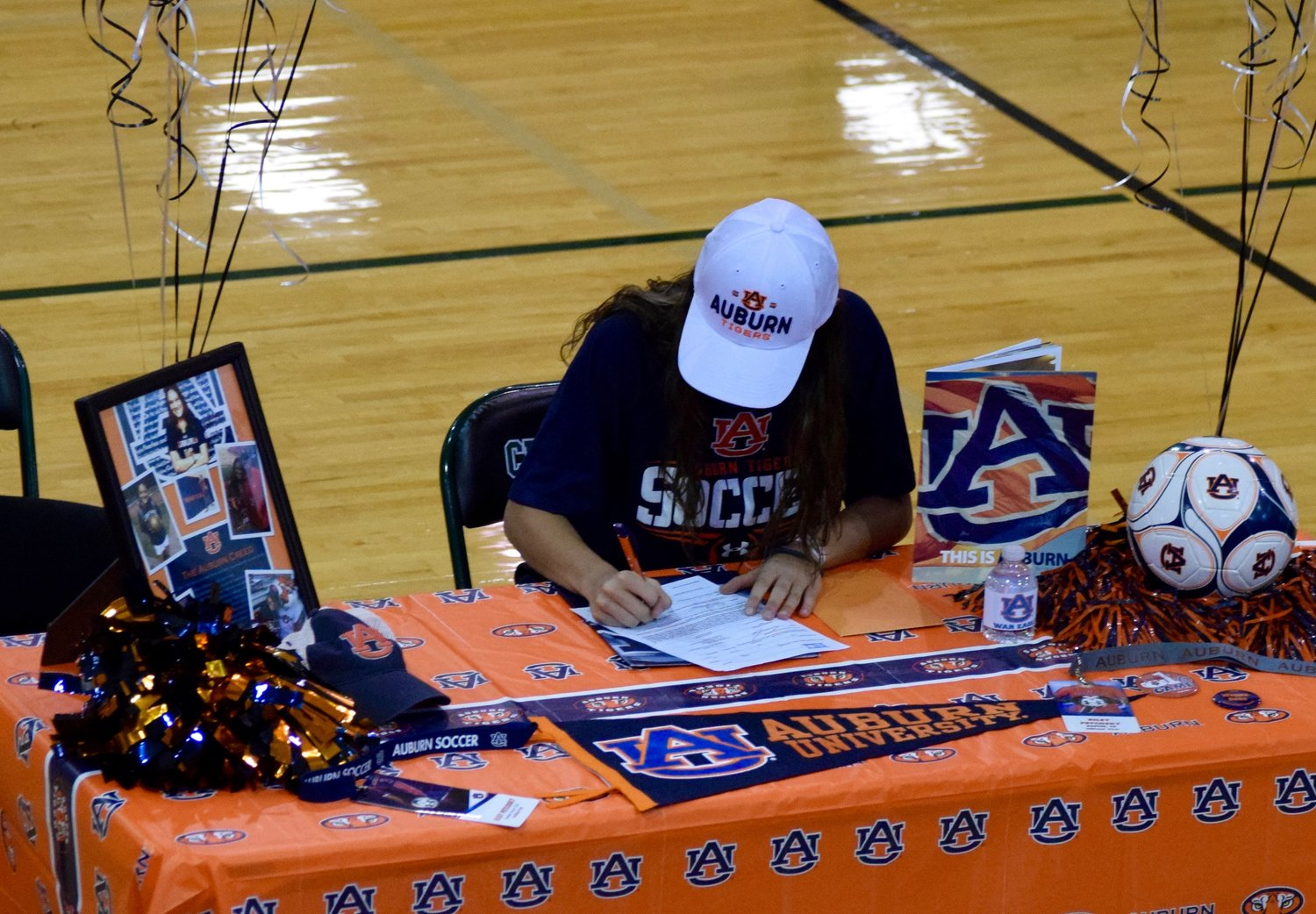 Cedar Park senior Riley Petcosky signed to play soccer at Auburn on Thursday. She played two years with the Timberwolves before spending the last two years in the Lonestar SC Development Academy.